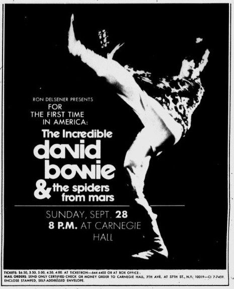 David Bowie & the Spiders From Mars   rocktourdatabase com
